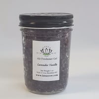 Lavender Vanilla Scented Gel Air Freshener Jar - Flameless Aroma