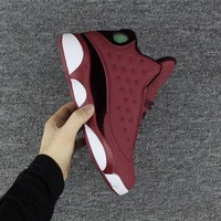 Air Jordan retro 13 wine red men basketball shoes retro 13s Sports shoes Sneakers size