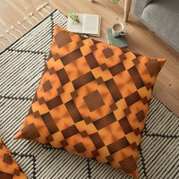 'Pattern in Warm Tones' Floor Pillow by Lyle Hatch