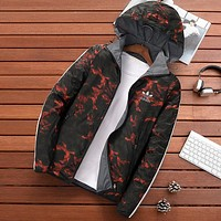 Trendsetter Adidas Men Fashion Casual Cardigan Jacket Coat