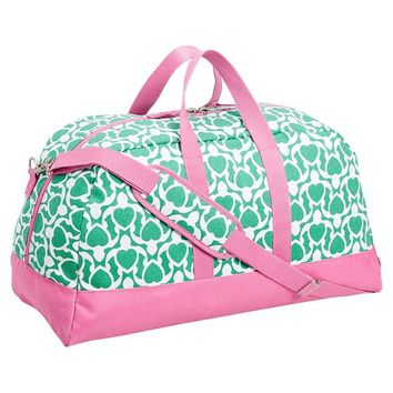 Cape Cod Sleepover Duffle Bag, Green Turtle