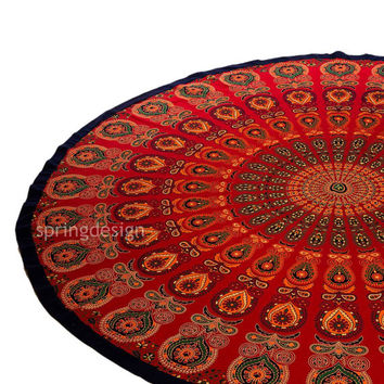 Agni, Bohemian Mandala Roundie Wall Hanging Tapestry Hippie Throw