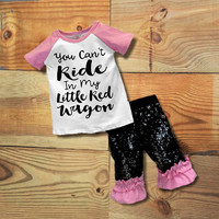 """You Can't Ride My Little Red Wagon"" Sequin Outfit"