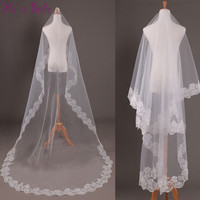 Wedding Veil with Lace Appliques