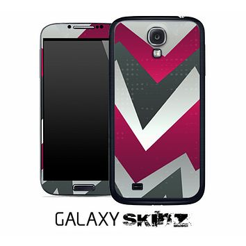 Abstract Orange ZigZag Chevron Pattern Skin for the Galaxy S2, S3 or S4