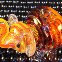 Elephant Glass Pipe - Artistic Hand Blown Glass Pipes - Animal Pipes - Collectable Tobacco Pipes