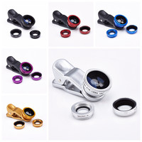 3 in 1 fish eye macro wide angle mobile phone lens camera fit universal clip for iphone 5 for samsung galaxy s5 for lg for moto