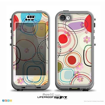 The Open Vintage Vector Swirls Skin for the iPhone 5c nüüd LifeProof Case