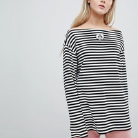 Lazy Oaf X Betty Boop Long Sleeve T-Shirt In Stripe at asos.com