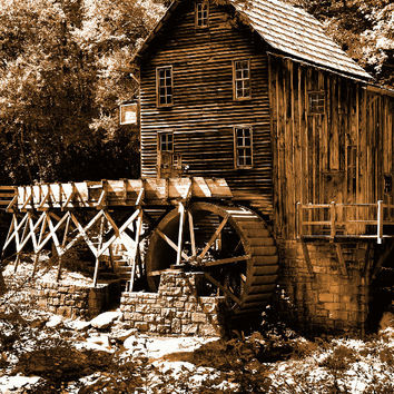 Mill in sepia