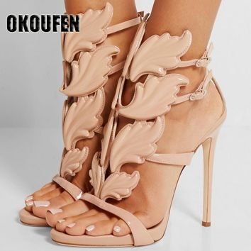 FASHION ALERT! Thin high heel winged sandals