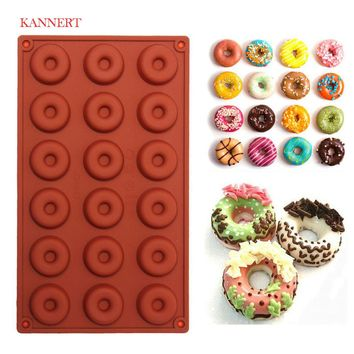 1 pcs 8\18-Cavity Donut Doughnut Baking Mold Cake Chocolate Candy Soap Silicone Mould Free shipping