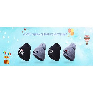 Fashion Warm Baby Hats Newborn Cat Ear Hats Beanie Caps Autumn Winter Kids Boys Girls Cartoon Knitting Hat Caps Child