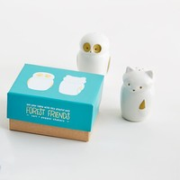 Fox + Owl Salt + Pepper Shakers