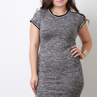 Melange Knit Athletic Dress