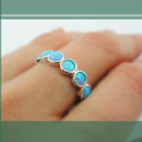 Opal sterling silver ring (sr-9531). birthday gift for her, romantic gift ideas, opal jewelry