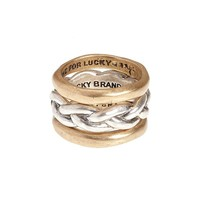 Lucky Brand Braided Ring Set Womens - Multicolor (One Size)