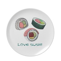 Love Sushi Plate from Zazzle.com