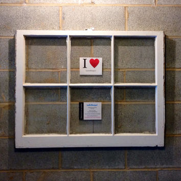 Vintage 6 Pane Window Frame - White, 36 x 28,  Rustic, Wedding, Beach Decor, Photos, Pictures