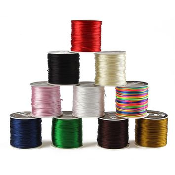 70M Length and 1 mm Diameter Nylon String Wire Cord for Jewelry Making DIY Necklace Bracelet Braided Thread