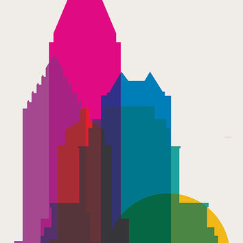 Shapes of Montreal art print