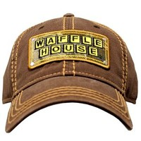 Waffle House Top Stitch Brown Cap