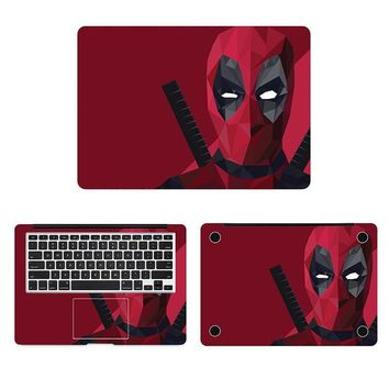 "Deadpool Superhero Laptop Sticker for Macbook Decal Pro Air Retina 11"" 12"" 13"" 15"" Mac Surface Book Protective Full Cover Skin"