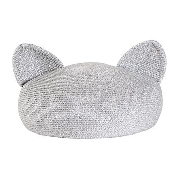 Eugenia Kim Caterina Beret with Cat Ears, Silver