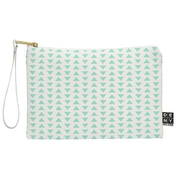 Allyson Johnson Minty Triangles Pouch