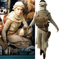 star wars costume adult the force awakens Rey cosplay costume with bag