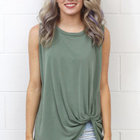 Get Twisted Comfy Tank Basic {Sage}