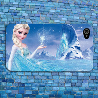 Beautiful Disney Frozen iPhone Case Cute Elsa Blue Scene Pretty View Phone Cover  iPhone 4 iPhone 5 iPhone 4s iPhone 5s iPhone 5c Case