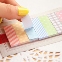 1 X Cute 160 Pages Sticker Post It Bookmark Point It Marker Memo Flags Decorative Sticky Notes sticker paper for free shipping