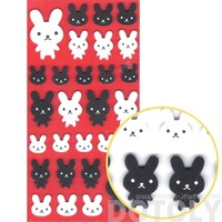 Simple Bunny Rabbit Animal Shaped Foam Plastic Stickers for Scrapbooking and Decorating