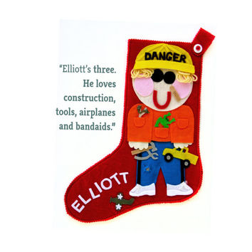 Personalized Christmas Stocking for Kids - Custom Boy / Girl Christmas Stocking