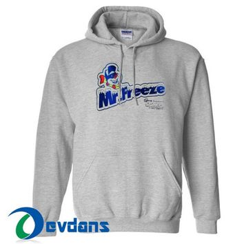 Mr Freeze Graphic Hoodie Unisex Adult Size S to 3XL