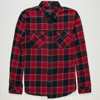 Valor Kenneth Mens Flannel Shirt Red  In Sizes