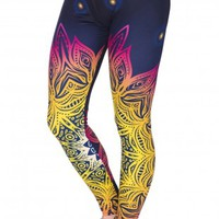 Mandala Lights High Waist Soft Leggings