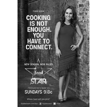 Next Food Network Star poster Metal Sign Wall Art 8in x 12in Black and White