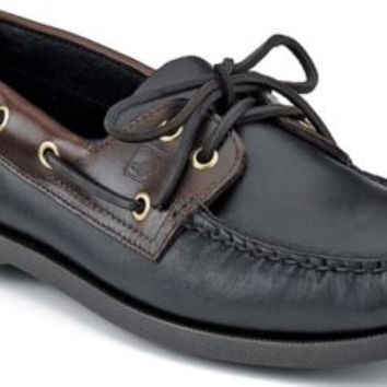 Sperry Top-Sider Authentic Original 2-Eye Boat Shoe BlackAmaretto, Size 16W  Men's Shoes