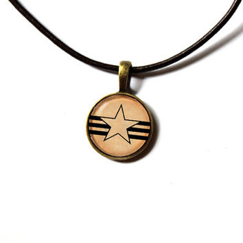 Fallout pendant New California Rangers necklace Post nuclear jewelry Antique style n303