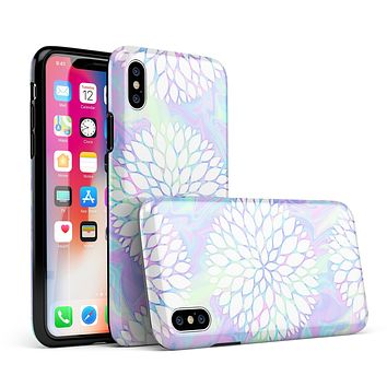 Iridescent Dahlia v6 - iPhone X Swappable Hybrid Case