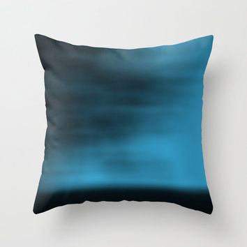 Abstract Pillow Cover, Blue Blurred Sky Pillowcase, Nature Pillow, Abstract, Landscape Photography, Minimalist Photo, Aqua, Cobalt