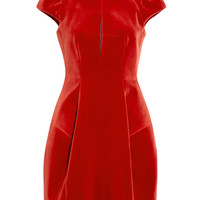 Fit And Flare Cap Sleeve Velvet Dress by Carven