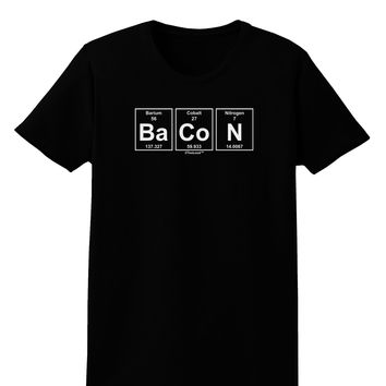 Bacon Periodic Table of Elements Womens Dark T-Shirt by TooLoud