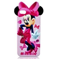 Disney Dancing Minnie Mouse iphone 5 and 5G Thick Silicone Hard Gel TPU Back Case Cover
