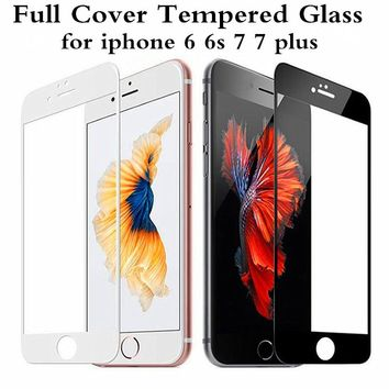 Preminum 0.3mm 2.5D 9H Full Coverage Cover Tempered Glass For iPhone 6 6s Plus Screen Protector Protective Film For iPhone 7 7p