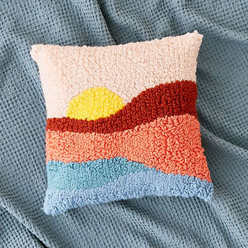 Sunset Shag Throw Pillow - Urban Outfitters