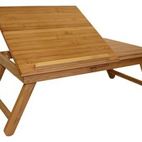 Simply Bamboo Portable Folding Laptop Computer/Notebook/Tablet Desk, Table & Serving Tray, Limit One per Order