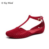 Women's Sandals 2017 Fashion Lady Girl Sandals Summer Women Casual Jelly Shoes Sandals Hollow Out Mesh Flats 22.5-25cm
